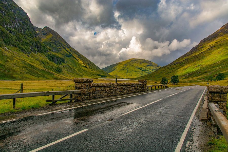 W drodze na Wyspę Skye