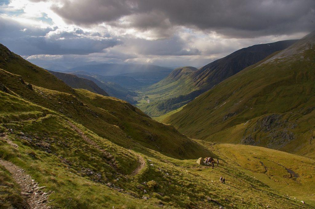 Gory w szkocji, okolice Ben Nevis