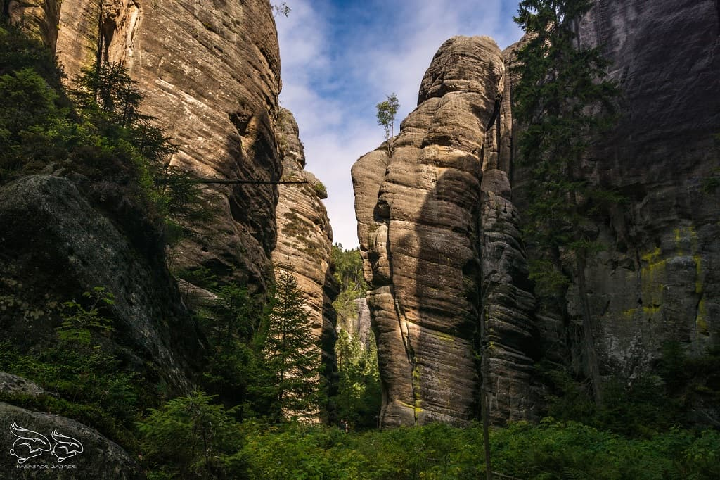 Góry Stołowe Teplickie Skały