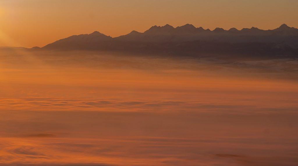 Babia Góra Wschod Słońca