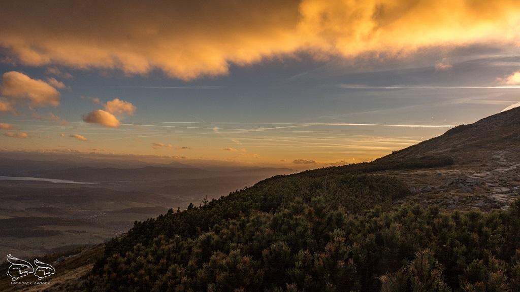 zachód słońca babia góra