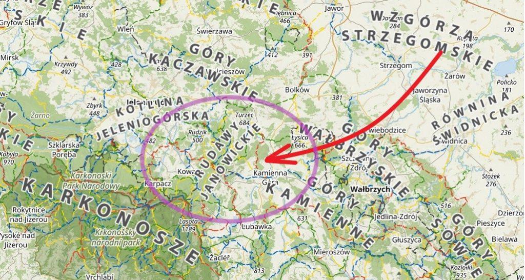Rudawy Janowickie mapa