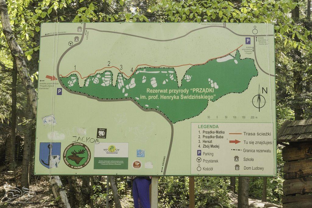 Rezerwat Prządki Mapa