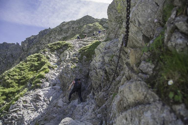 Szpiglasowy Wierch szlak z łańcuchami