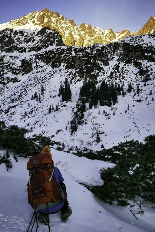 Dolina Pięciu Stawów wariant zimowy