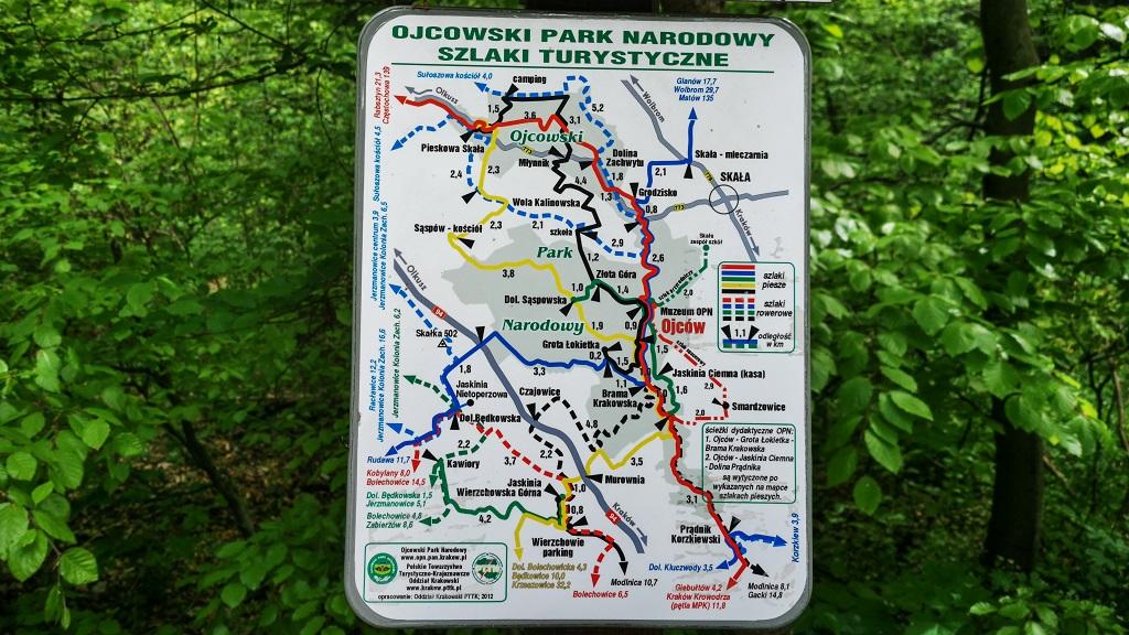 Ojcowski Park Narodowy Mapa