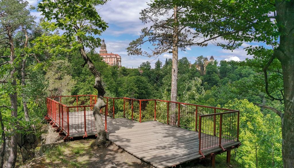 Punkt widokowy Książański Park krajobrazowy