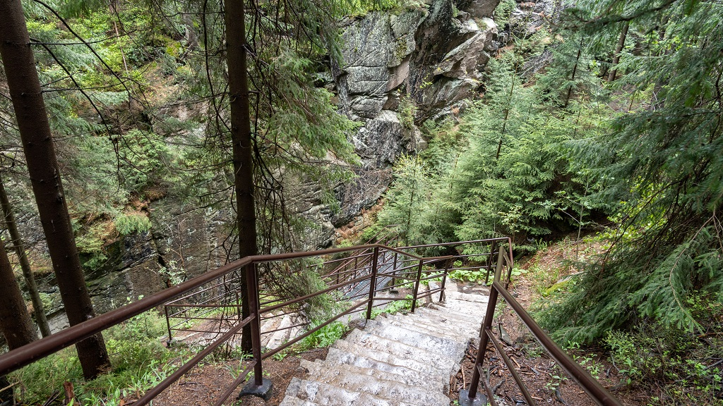 Szlak na Szrenicę - Wodospad Kamienczyka