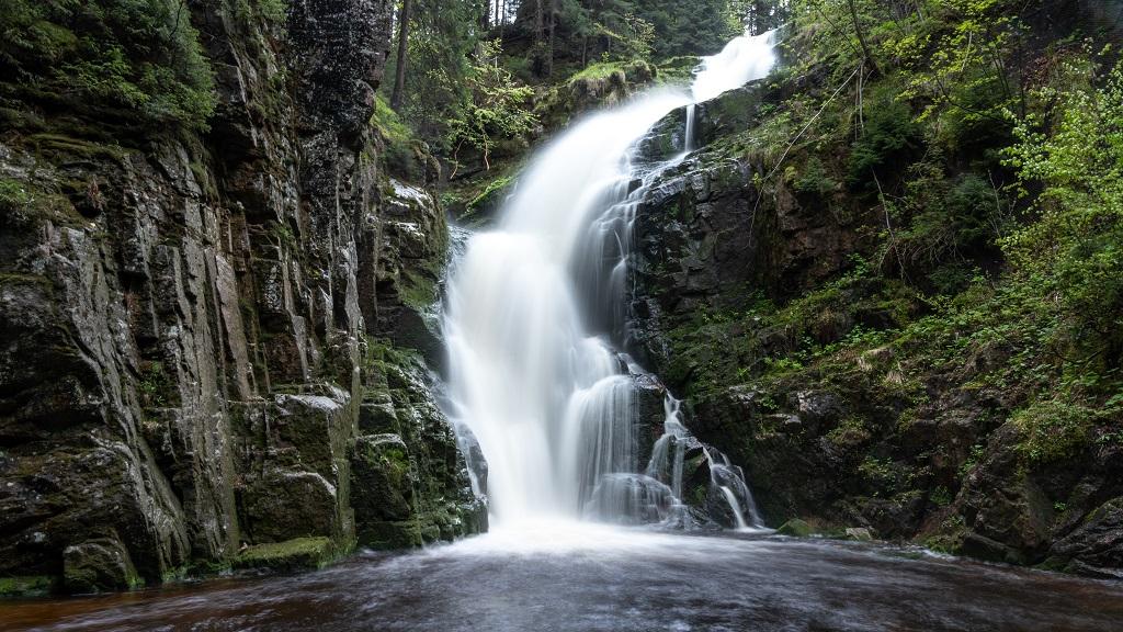 wodospad kamienczyka - trasa na Śnieżne Kotły