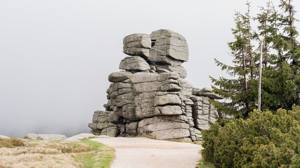 Trzy Świnki Karkonosze - wejście na Szrenicę