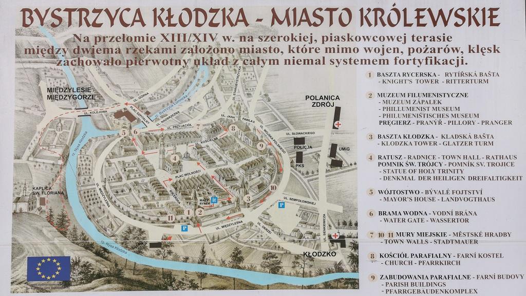 Bystrzyca Kłodzka mapa
