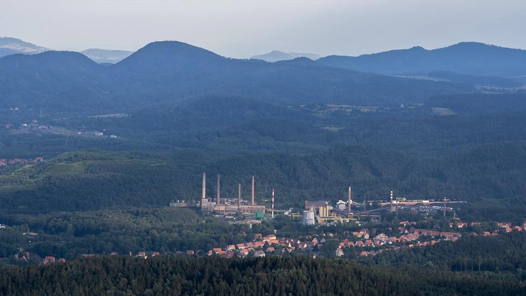 Góry Wałbrzyskie panorama