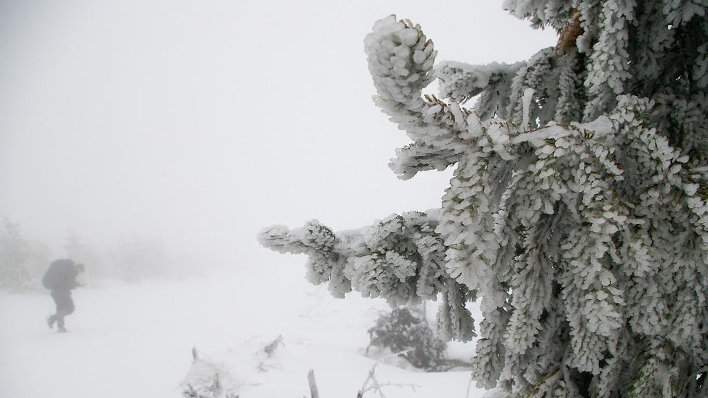 góry izerskie zima