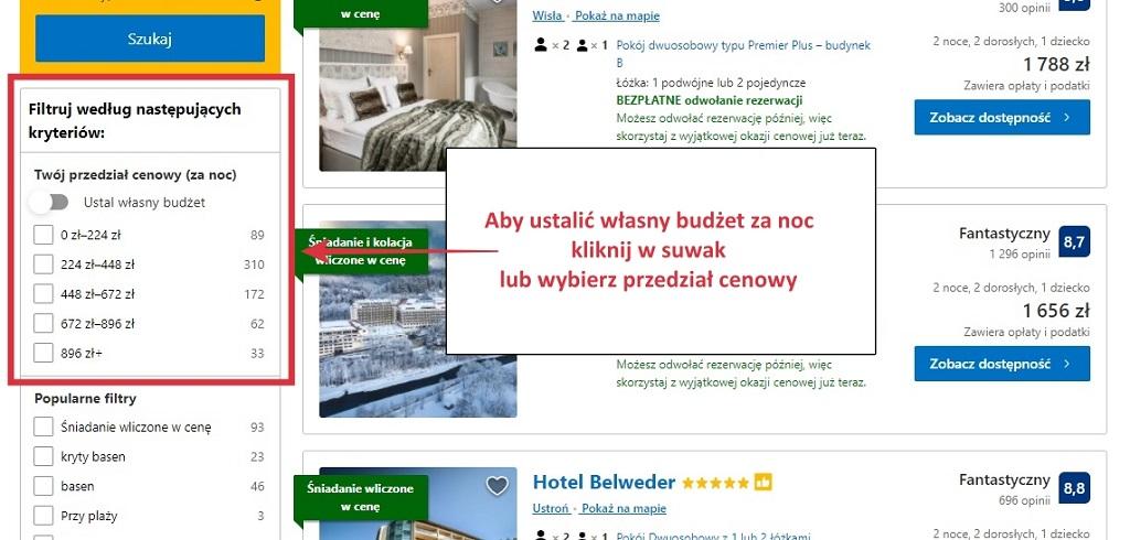 booking.com cena