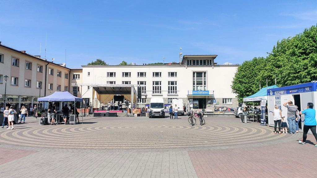 dom zdrojowy w Wiśle i rynek