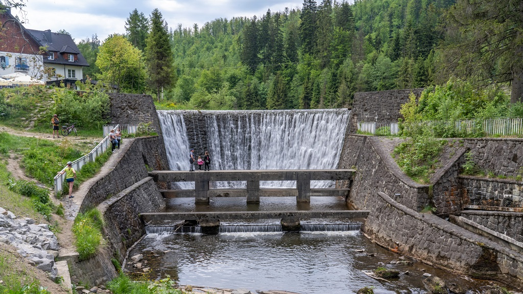 wodospad w Wiśle
