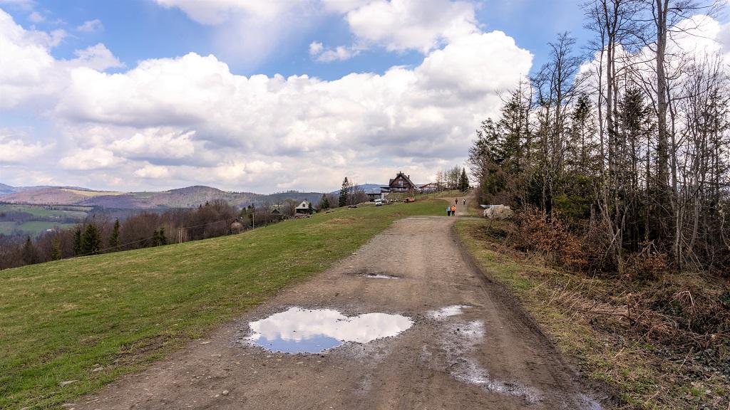 Trzy Kopce Wiślańskie szlak do Telesforówki